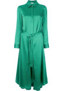 Rosetta Getty Belted Midi Shirt Dress - Verde