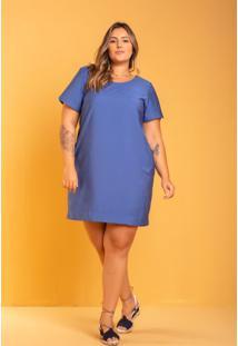 Vestido Luna Bolso Azul Plus Size Domenica Solazzo