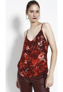 Blusa Com Regulagem- Vermelha & Bordã´- Milioremiliore