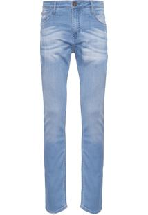 Calça Masculina Slim Duque 3D - Azul