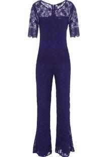 Macacão Feminino Renda Doyle - Azul