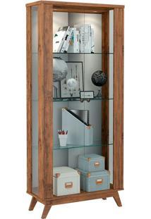 Cristaleira C701L 2 Portas Com Led Nobre Fosco