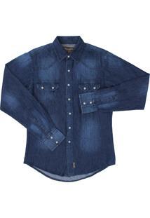 Camisa Jeans Wrangler Comfort Azul
