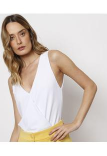 Body Paula Transpassado - Branco - Le Lis Blancle Lis Blanc