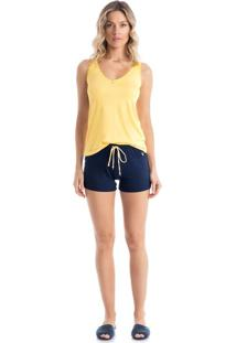 Short Doll Ambar Regata Amarelo/P