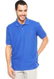 Camisa Polo Nautica Lisa Azul