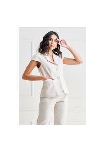 Colete Mx Fashion Sarja Piquet Pierre Areia