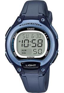 Relógio Feminino Casio Digital Lw2032Avdf - Azul - Unissex-Azul