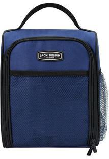 Bolsa Térmica Retangular- Azul & Preta- 19X12X24Cmjacki Design