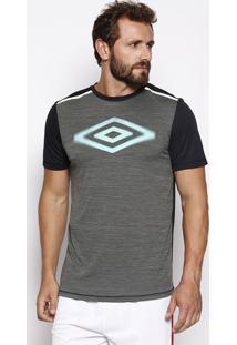 Camiseta Projects Bicolor Pro- Cinza Escuro & Pretaumbro