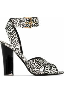 Tom Ford Sandália Com Estampa De Leopardo E Salto 105Mm - Preto