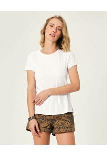 Blusa Canelada Em Viscose Malwee Branco - Gg