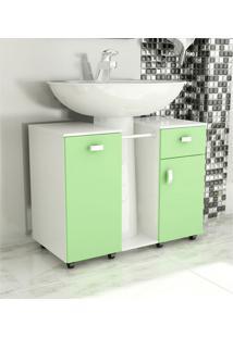 Gabinete De Banheiro Due Verde Tomdo