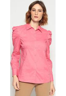 Camisa Drapeados- Rosa - Pacific Bluepacific Blue