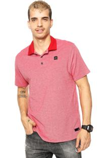 Camisa Polo Oakley Reta Elevated Basic 2.0 Vermelha
