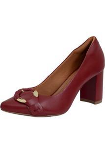 Scarpin Laura Prado Confort Alto Vermelho - Tricae