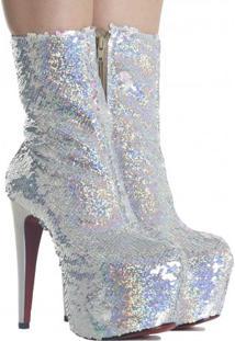 Bota Zariff Shoes Glitter Salto Alto