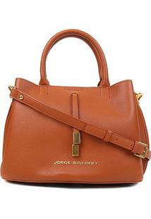 Bolsa Jorge Bischoff Floater Soft Bag Feminina - Feminino-Caramelo