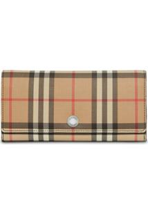 Burberry Carteira Vintage Check Continental - Estampado