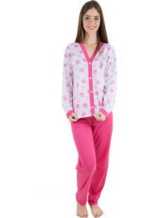 Pijama Linha Noite Longo Pink - Tricae