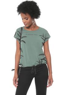Blusa Cativa Estampada Verde