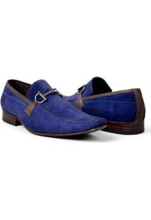 264ad71443 ... Sapato Mocassim Masculino Bigioni Camurça Detalhe Em Metal - Masculino- Azul