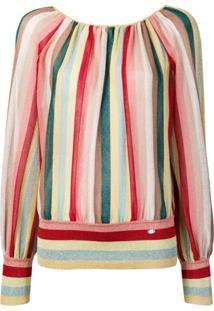 Elisabetta Franchi Striped Blouse - Amarelo