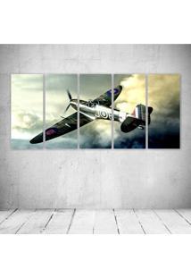 Quadro Decorativo - Vintage Airplane (3) - Composto De 5 Quadros