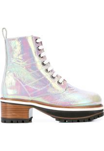 Sies Marjan Ankle Boot Holographic - Branco
