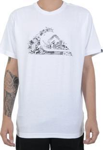 Camiseta Quiksilver Ocean Logo Branca - Masculino