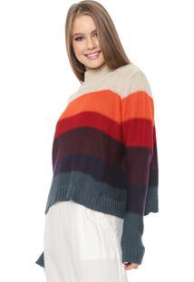 Suéter Dress To Tricot Listras Bege/Vinho