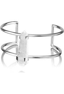 Bracelete Celebrar Cristal Prata