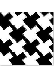 Quadro Abstrato Ii Uniart Preto & Branco 30X30Cm