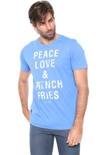 Camiseta Colcci Fries Azul