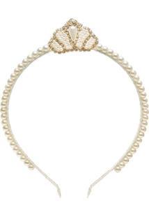 Tiara Pérolas Coroa Marfim - Roana