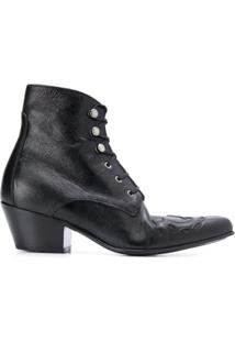Saint Laurent Ankle Boot 'Susan' - Preto