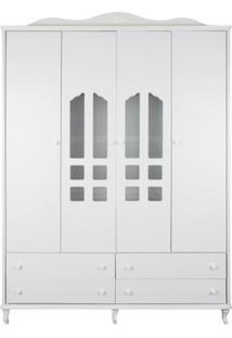Armário Nice 4 Portas E 4 Gavetas Branco Fosco