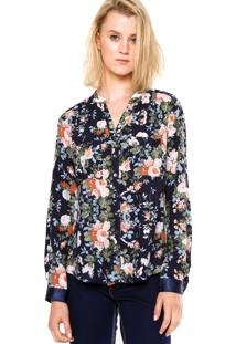 Camisa Love Poetry Floral Marinho