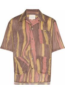 Nicholas Daley Camisa Mangas Curtas Aloha - Marrom