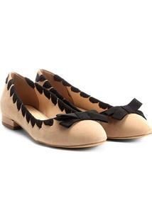 Sapatilha Couro Shoestock Gorgurão Feminina - Feminino