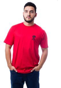 Camiseta Zero Mask Branco/Vermelho