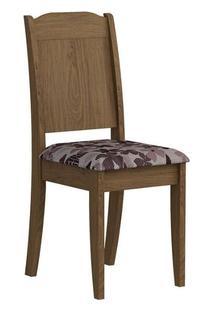 Cadeira Cimol Bárbara Madeirado (2 Unidades) Savana/Bordô