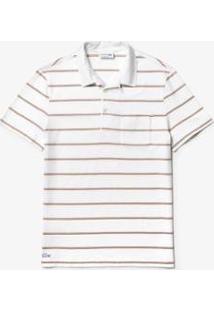Camisa Polo Lacoste Regular Fit Masculina - Masculino-Branco