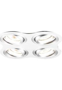 Spot Embutir Redondo 2,5Cmx17Cm 160W Gu10 Bella Iluminação - Caixa Com 3 Unidade - Branco