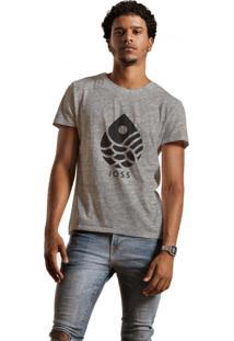 Camiseta Masculina Joss Gota Black Cinza