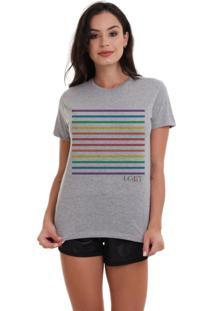 Camiseta Basica Joss Lgbt Listras Mescla - Kanui
