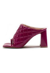 Sandália Babi Damannu Shoes Bordô