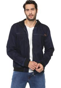 Jaqueta Jeans Colcci Capuz Azul-Marinho
