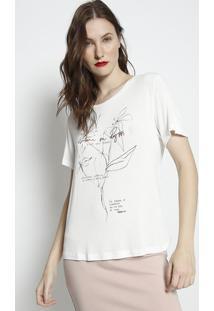 """Camiseta """"Nature In Progress""""- Branca & Preta- Forumforum"""