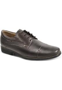 Sapato Social Masculino Derby Sandro & Co Edsel - Masculino-Marrom Escuro